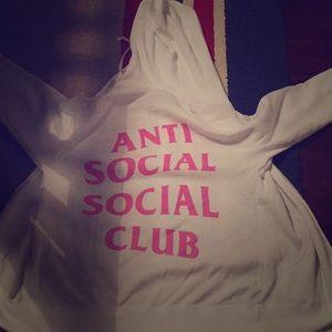 Anti social social club zip up men xs in men